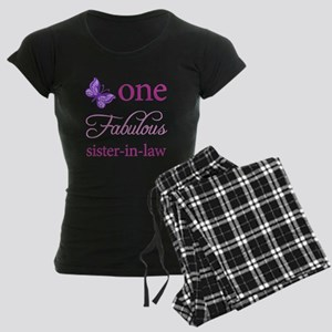 One Fabulous Sister-In-Law Women's Dark Pajamas