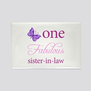 One Fabulous Sister-In-Law Rectangle Magnet