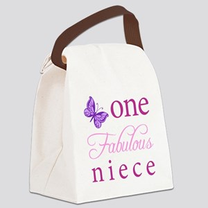 One Fabulous Niece Canvas Lunch Bag