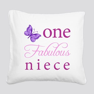 One Fabulous Niece Square Canvas Pillow