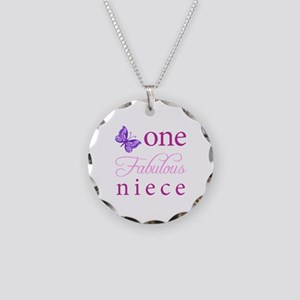 One Fabulous Niece Necklace Circle Charm