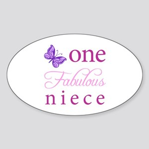 One Fabulous Niece Sticker (Oval)