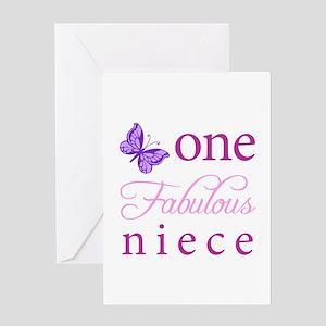 One Fabulous Niece Greeting Card