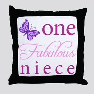One Fabulous Niece Throw Pillow