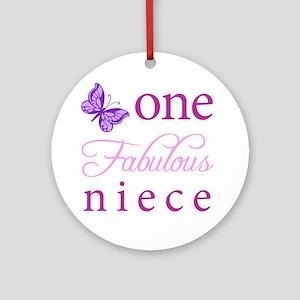 One Fabulous Niece Ornament (Round)