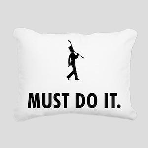 Clarinet Player Rectangular Canvas Pillow