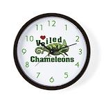 Love Veiled Chameleons Wall Clock