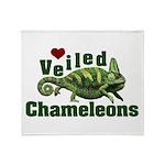Love Veiled Chameleons Throw Blanket
