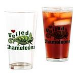 Love Veiled Chameleons Drinking Glass