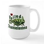 Love Veiled Chameleons Large Mug