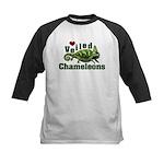 Love Veiled Chameleons Kids Baseball Jersey
