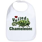 Love Veiled Chameleons Bib
