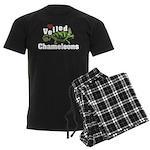 Love Veiled Chameleons Men's Dark Pajamas