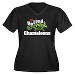 Love Veiled Chameleons Women's Plus Size V-Neck Da