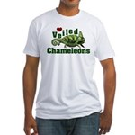 Love Veiled Chameleons Fitted T-Shirt