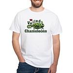 Love Veiled Chameleons White T-Shirt