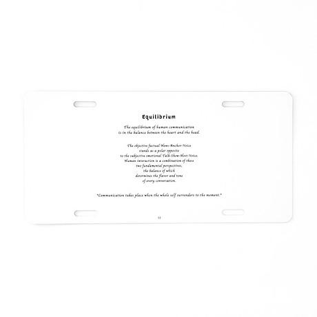 Equilibrium Aluminum License Plate