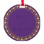Best Of Breed Metal Medallion Round Ornament