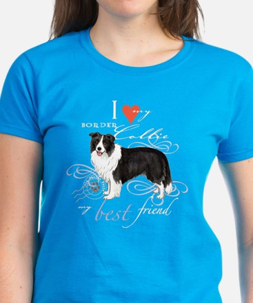 Border Collie Women's Dark T-Shirt