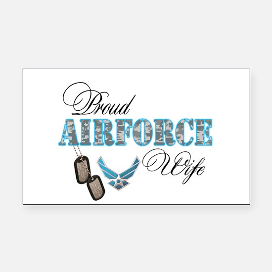 Funny Air force wife zebra Rectangle Car Magnet
