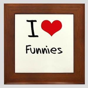 I Love Funnies Framed Tile