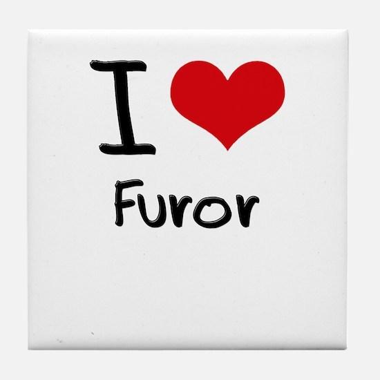 I Love Furor Tile Coaster