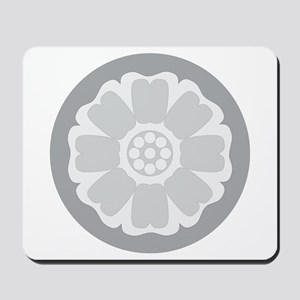 White Lotus Tile Mousepad