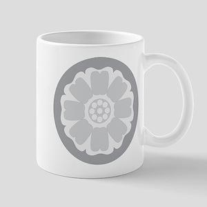 White Lotus Tile Mug