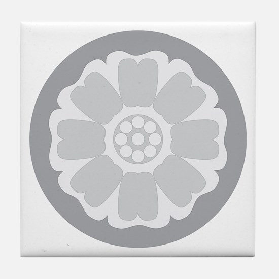 White Lotus Tile Tile Coaster