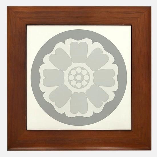 White Lotus Tile Framed