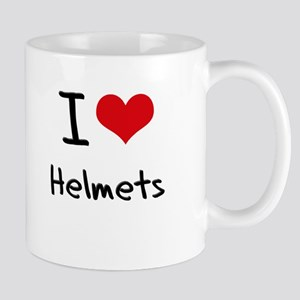 I Love Helmets Mug