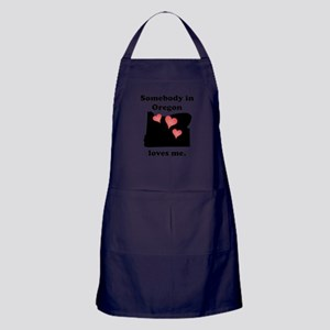 Somebody In Oregon Loves Me Apron (dark)