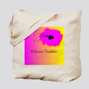 Retired TEacher Flower 2 Tote Bag