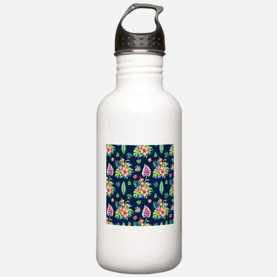 Colorful tropical flow Water Bottle