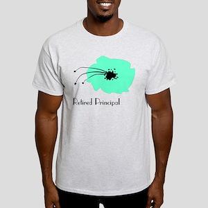 Retired Principal Blue Flower T-Shirt