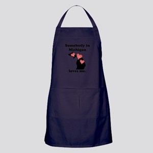 Somebody In Michigan Loves Me Apron (dark)