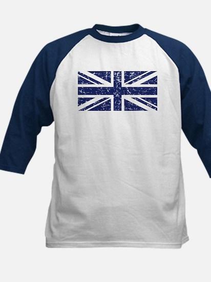 """""""Navy Union Jack"""" Kids Baseball Jersey"""