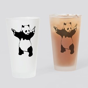Panda guns Drinking Glass