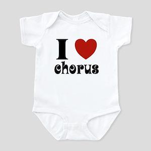 I Love Heart Chorus Infant Bodysuit