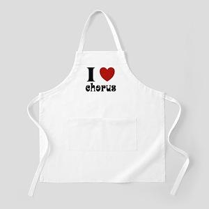 I Love Heart Chorus BBQ Apron
