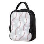 Baseballs Neoprene Lunch Bag