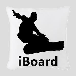 iBoard Woven Throw Pillow