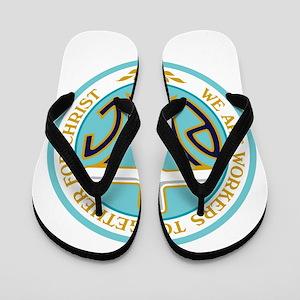 PWOC Logo Flip Flops