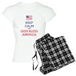 Keep Calm and God bless America Pijamas