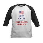 Keep Calm and God bless America Baseball Jersey