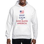Keep Calm and God bless America Sudaderas con capu