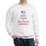 Keep Calm and God bless America Sudaderas