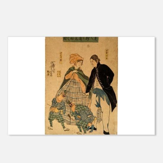 Yoshitomi Utagawa - Foreigners Watching New Years