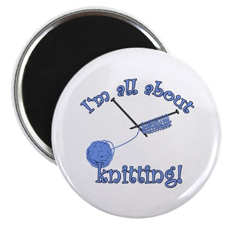 Yarn and Knitting Needles Magnet