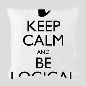 Keep Calm and Be Logical Woven Throw Pillow